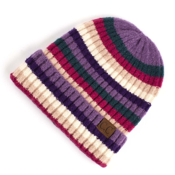 Purple/Multi Color CC Beanie