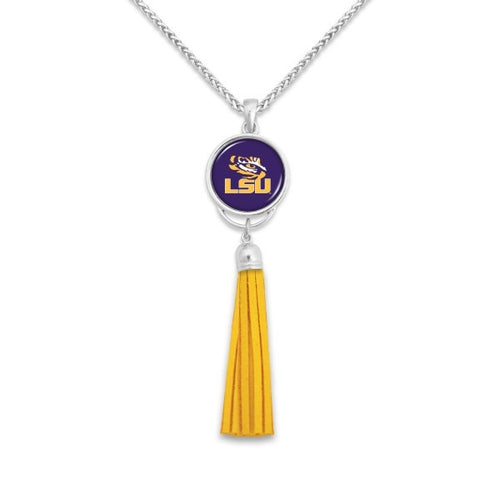LSU Tassel Pendant Game Day Necklace.