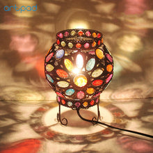 Load image into Gallery viewer, Mediterranean Design Multi-Color Dimmer Table Lamp