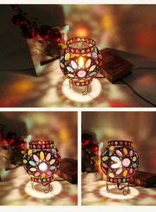 Mediterranean Design Multi-Color Dimmer Table Lamp