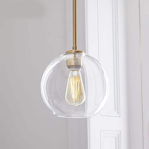 Luxurious Silver or Gold Glass Pendant Chandelier Lights