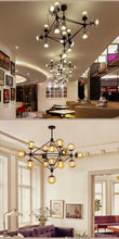 Load image into Gallery viewer, Industrial Vintage Chandelier Glass Pendant Lamp