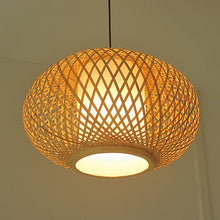 Load image into Gallery viewer, Hand Knitted Bamboo Pendant Light