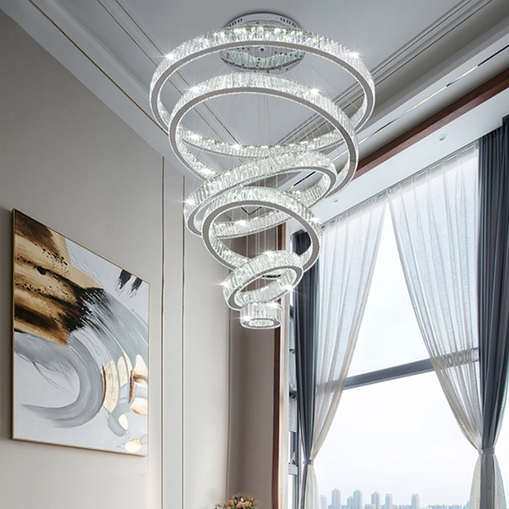 Large Luxury Modern Crystal Chandelier