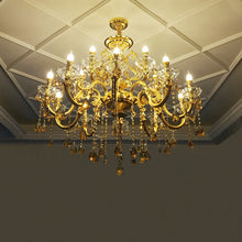 Load image into Gallery viewer, Gold Classic Large Luxury Crystal Chandelier