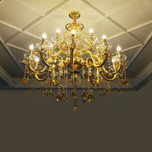 Gold Classic Large Luxury Crystal Chandelier