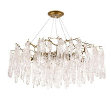Load image into Gallery viewer, Nordic Modern Chateau Crystal Chandelier with Twisted Glass for Living Room or Dining Room