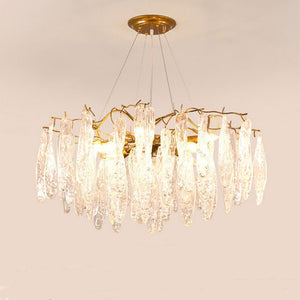 Nordic Modern Chateau Crystal Chandelier with Twisted Glass for Living Room or Dining Room