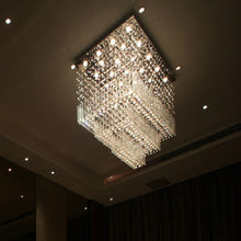 Load image into Gallery viewer, Modern Large Square Crystal Chandelier