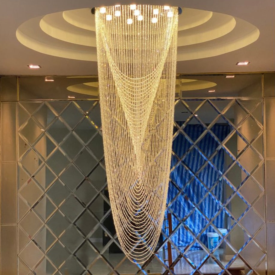 Luxury Staircase Crystal Chandelier