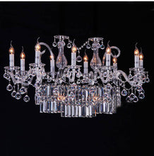 Load image into Gallery viewer, Phube Candle Crystal Chandeliers