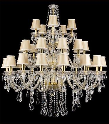 Luxury Modern Large Gold/Silver Crystal Chandelier for Restaurant/Hotel/Hall/Villa