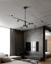 Load image into Gallery viewer, Nordic Iron Glass Chandelier Ideal for Living Room/Villa/ Bedroom/ Loft
