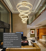 Load image into Gallery viewer, Large Luxury Modern Crystal Chandelier