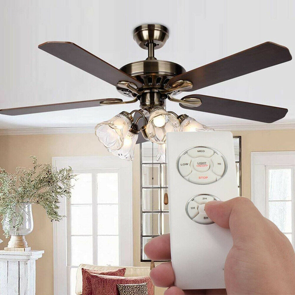Ceiling Fan Lamp with Dimmer Lights and Remote Control