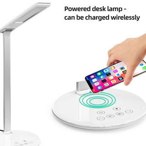 Modern Style Desk Lamp with Qi Wireless Charging