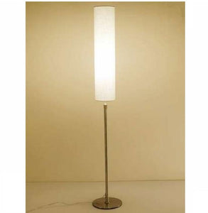Modern European floor lamp gold fabric beige & white lampshade