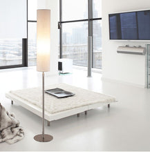 Load image into Gallery viewer, Modern European floor lamp gold fabric beige & white lampshade