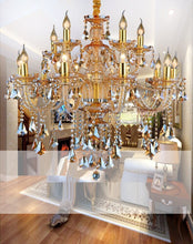 Load image into Gallery viewer, Modern Crystal Chandelier w/Decorative Tiffany Style Pendants