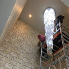 Load image into Gallery viewer, Modern Spiral Crystal Chandelier
