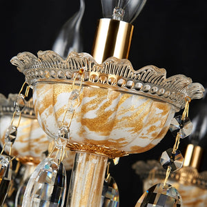 Large Roman Tiffany Style Crystal Chandelier (30 pcs)