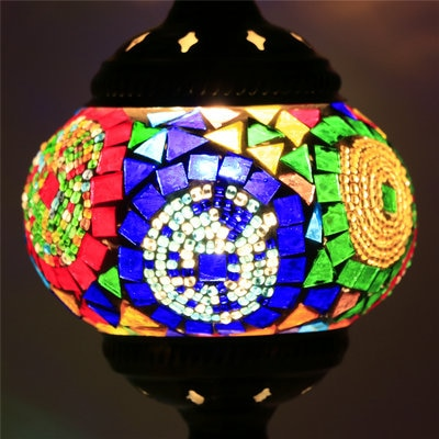 Mediterranean Style Mosaic Table Lamp
