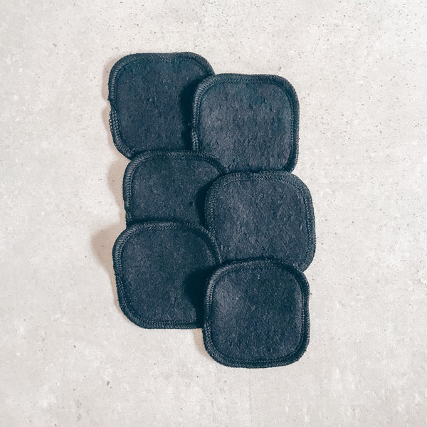 Black Hemp Rounds | Reusable