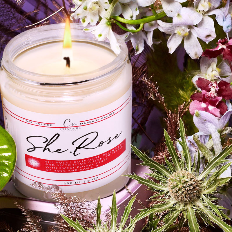 She.Rose Massage Candle