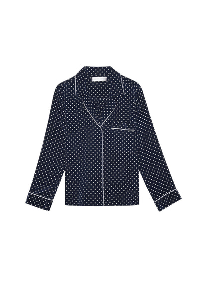 Blair - Navy/White Silk Dot