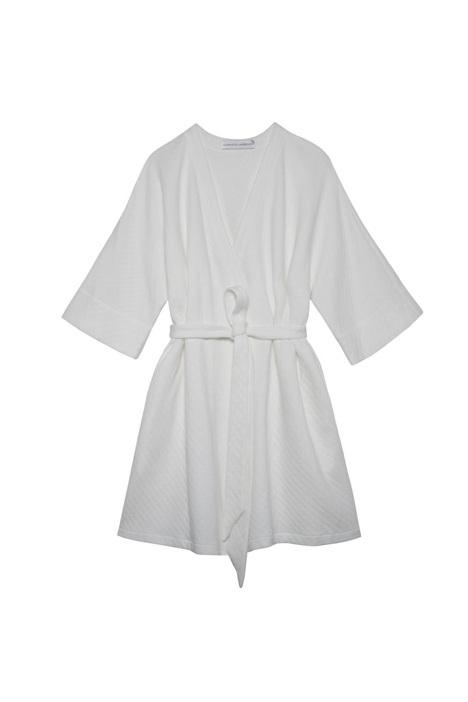 7a749d86d6 EMMA Cotton White Quilted Robe – Alessandra Mackenzie