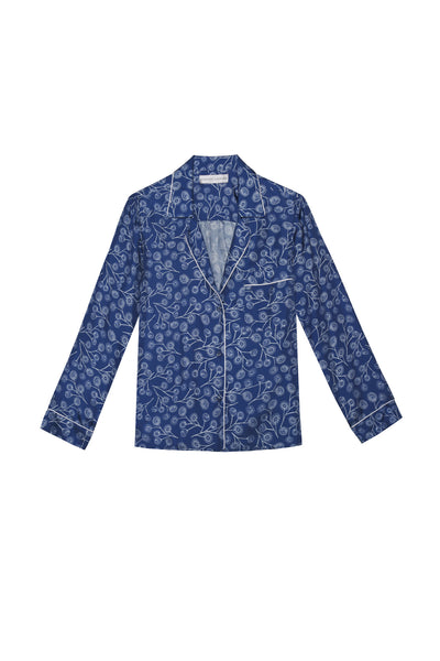 Blair in Blue Dandelion Silk Print