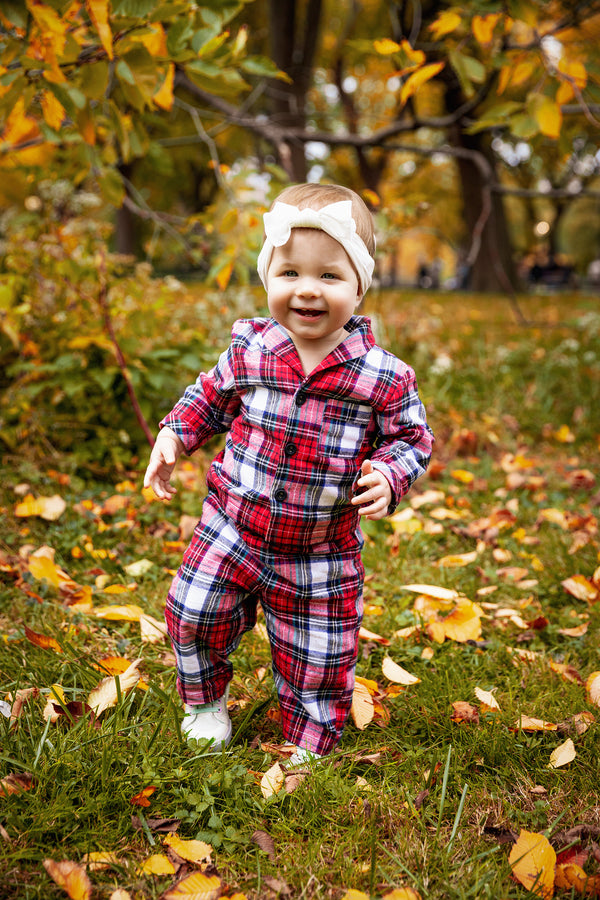 KIDS PLAYSUIT - BUFFALO CHECK