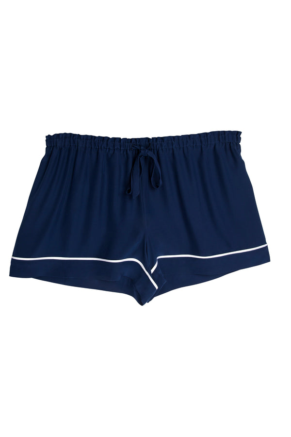 ASHLEY NAVY/WHITE SHORTS