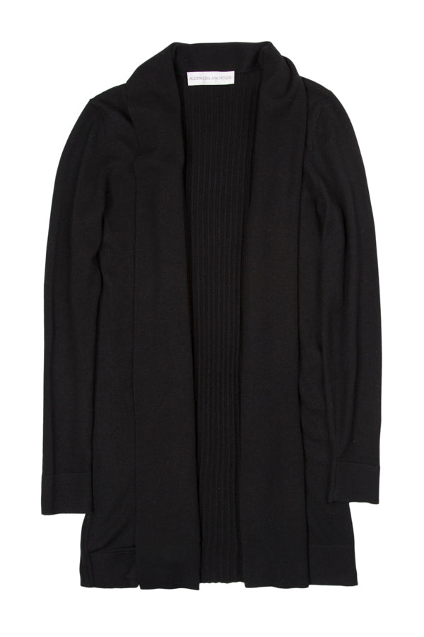 LAUREN LONG CARDIGAN - BLACK