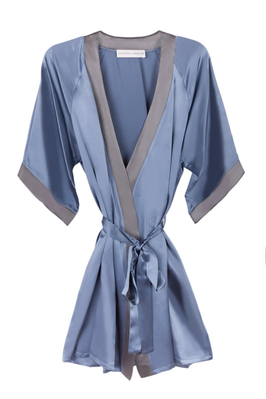 GRACE BLUESTONE/SLATE SHORT ROBE