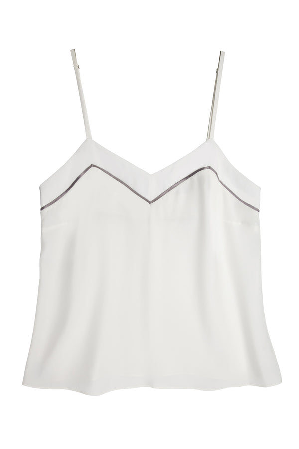 Marisa Silk Camisole in Ivory