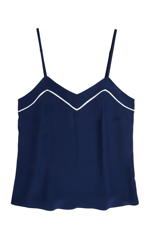Marisa Silk Camisole in Navy