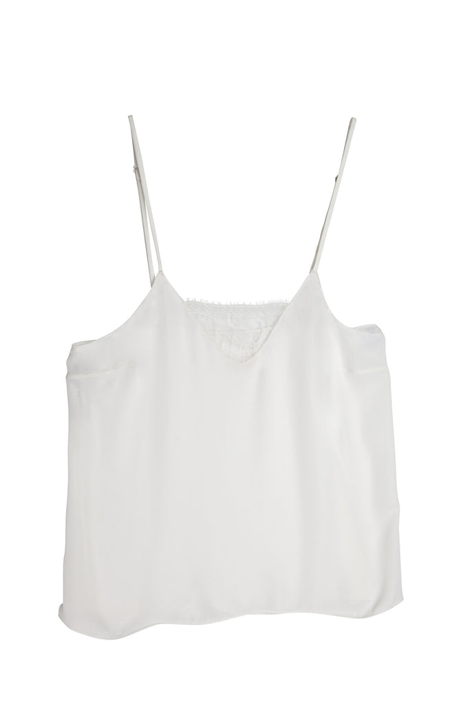 Silk & Lace Camisole in White