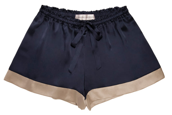ASHLEY MIDNIGHT/CAMEL SHORTS