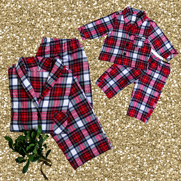 MOM & MINI SET - RED TARTAN