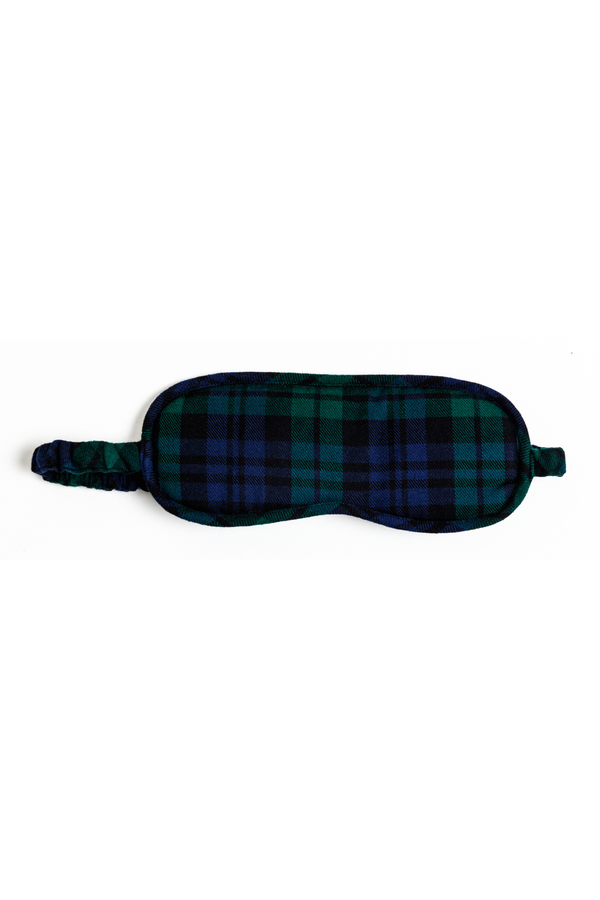 FLANNEL EYE MASK - BLACKWATCH
