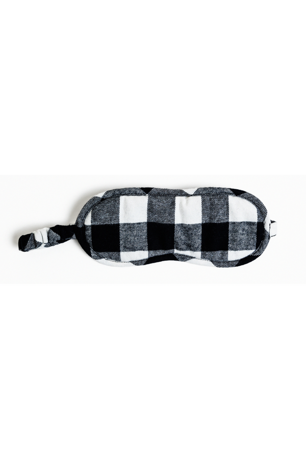 buffalo check eye mask