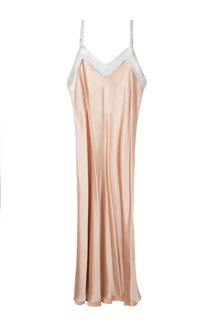 RAQUEL ROSE/SILVER LONG CHEMISE