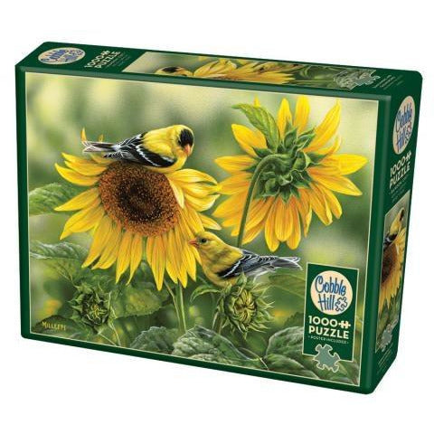 Sunflowers and Goldfinches Pz1000