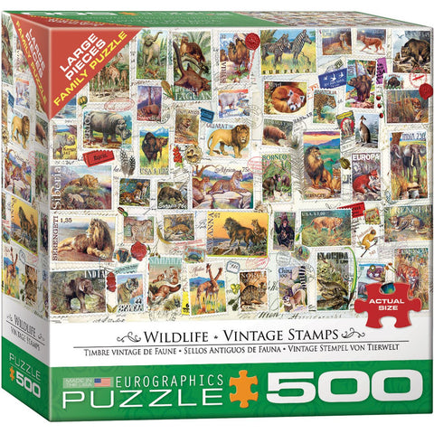 Wildlife Vintage Stamps Pz500