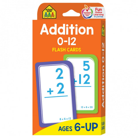 School Zone Addition Flash Cards