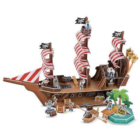 3-D Puzzle Pirate Ship