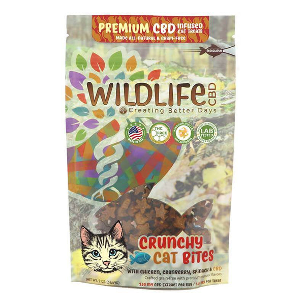 Creating Better Days  CBD Wildlife Premium Crunchy Cat Bites