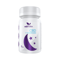 Medterra Dissolvable Melatonin Sleep CBD Tablests 25MG