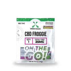 Green Roads Froggies Sourz OTG Gummies - 25MG